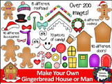 Make your own Gingerbread Man and House Printable and Clipart - Over 200 images!