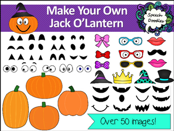Make your own Jack O'Lantern - Over 50 images! For Personal and Commercial Ue