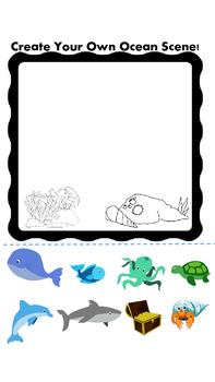 Make your own Ocean Scene. Underwater Animals!