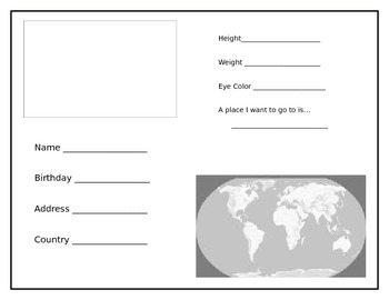 make your own passport template make your own passport by teaching touchdowns teachers