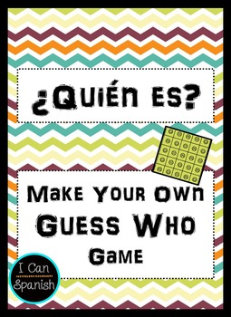 Make your own ¿Quién es? or Guess Who in Spanish