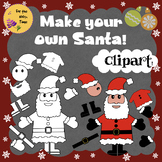 Fun & Easy Craft Activity. Make your own Santa Claus!  + Clipart