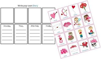 Make your own Story Lesson Plan Valentine's Day Cut and Paste