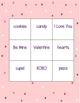 Valentine's Day Make Your Own Bingo