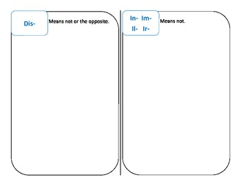 Make your own affixes booklet on prefixes and suffixes - literacy activity