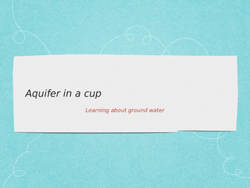 Make your own aquifer
