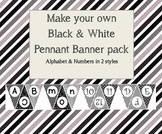Make your own black and white banner pack