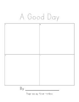 Make your own book inspired by Kevin Henkes - A Good Day