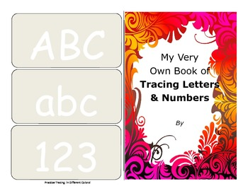 Make your own booklet of alphabet tracing letters and numbers