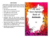 Make your own booklet on the ABC's of animals nearly 200 vocab words