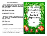 Make your own booklet on the ABC's of fruits and veggies over 100 vocab words
