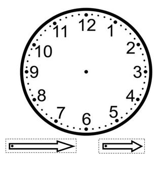 Make your own clock template by miss jessica teachers for Printable clock hands template