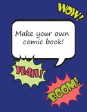Make your own comic book! comic book templates and more
