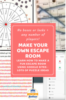 Make your own escape room - no boxes and locks+any number of students