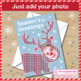 Christmas Cards Art Craftivity, Personalised Reindeer face - add your photo