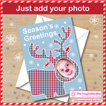 Christmas Art Activity - Selfie Reindeer Cards