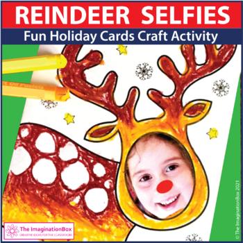 Christmas Cards Art Craftivity, Personalised Reindeer face