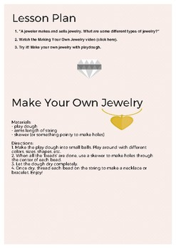Make your own jewelry - with play dough!