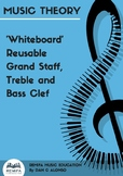 Make your own reusable music 'whiteboard'
