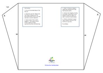 Simple Kite Template & Activity