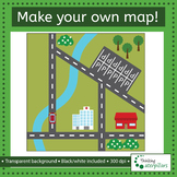 Make your own town map! Clip art set