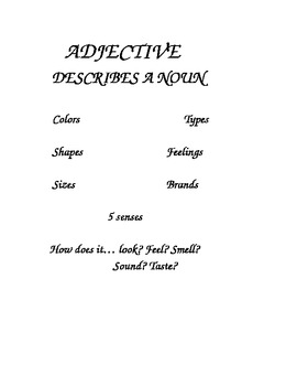 Make your sentences juicy with ADJECTIVES!