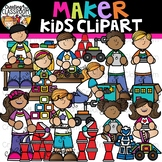 Maker Kids Clipart {STEM Kids Clipart}