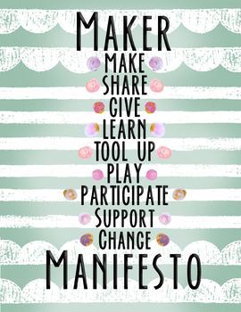 Maker Manifesto Classroom Poster