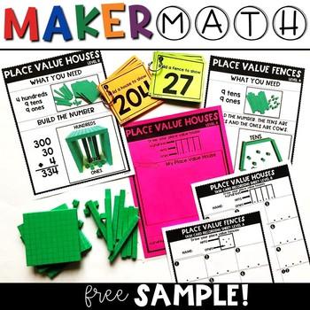 Maker Math {FREE Place Value Sample!}