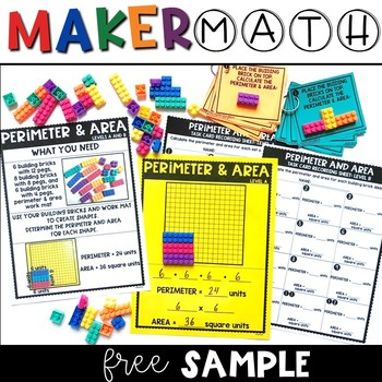 Maker Math {FREE Area & Perimeter Sample!}