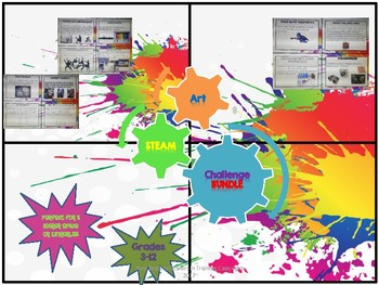 Maker Space ART Bundle- 30 STEAM Maker Challenges!