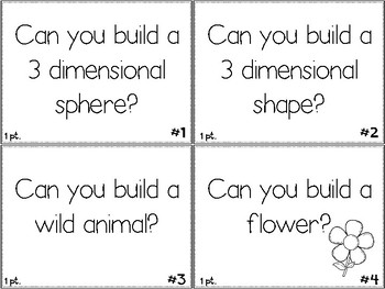 Maker Space Challenge Task Cards - Using STEM TOYS #2