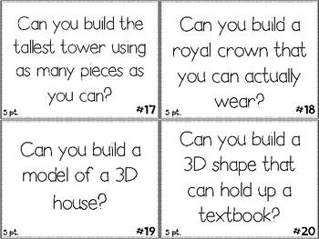Maker Space Challenge Task Cards - Using STEM TOYS #3
