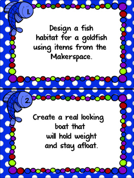 Maker Space Fishing Day Task Card Pack