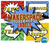 Maker Space Labels - Super Hero Theme