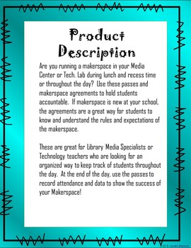 Makerspace Passes and Student Contracts