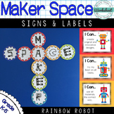 Maker Space Signs, I Can Statements, Labels