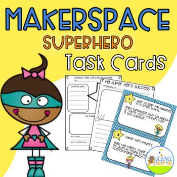Maker Space Super Hero Task Cards