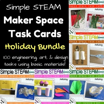 Maker Space Task Card Bundle Holiday Edition