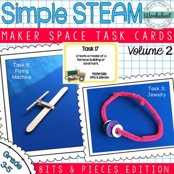Maker Space Task Cards (Bits & Pieces)