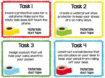 Maker Space Task Cards (Duct Tape)