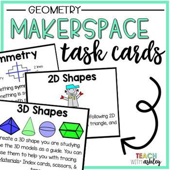 Makerspace Task Cards {Geometry}