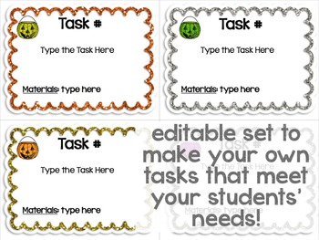 Maker Space Task Cards (Halloween Edition)
