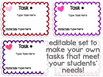 Maker Space Task Cards (Valentine's Day Edition)