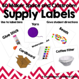 Maker Space and Classroom Supply Labels