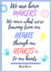 Maker Space posters, banners, and labels