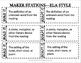 Maker Stations--ELA Style!