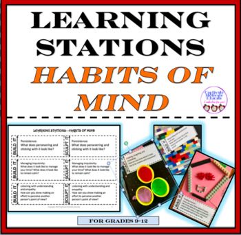 Learning Stations, HABITS OF MIND, hands-on, task cards
