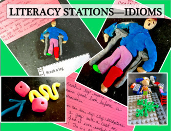 Literacy Stations, IDIOMS, hands-on, task cards, figures of speech