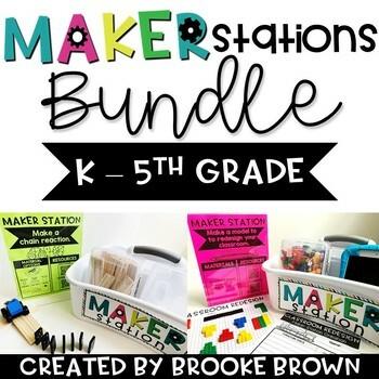 Maker Stations for Makerspaces BUNDLE {K-5th Grade}